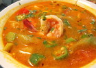 Canh Chua: Hot & Sour Soup with shrimp, tomato and vegetables